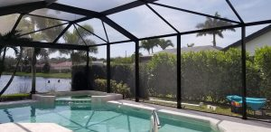 Types of Pool Enclosure Screen Materials in Naples, Florida